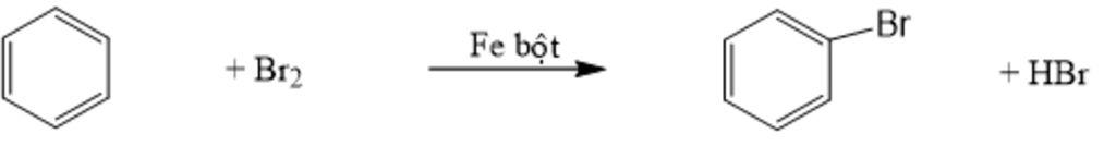 Benzen có tác dụng với Br2 có bột Fe không ạ? câu hỏi 331637 - hoidap247.com